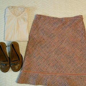GAP size 8 tweed flared skirt